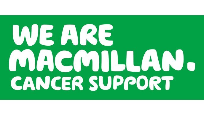 Logo: We are Macmillan. Cancer Support.