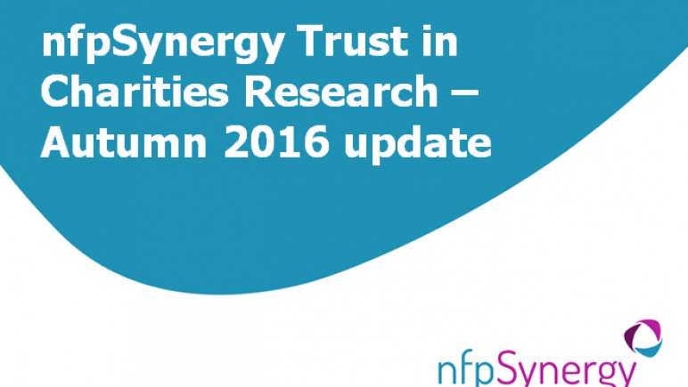 nfpSynergy trust in charities research