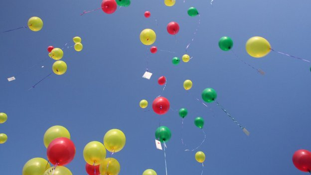 Image of lots of balloons in the sky