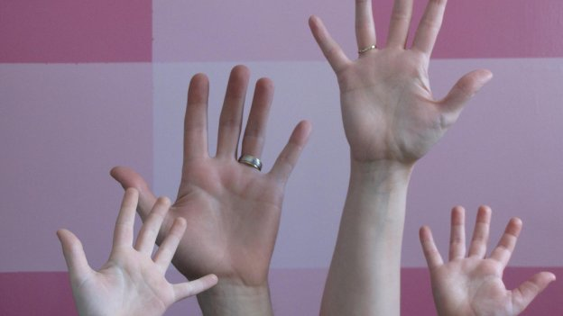 picture of family's hands
