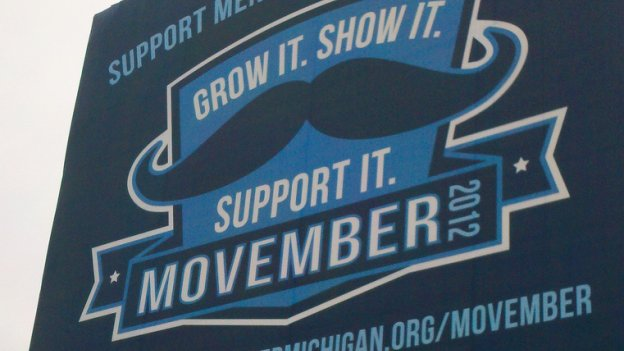 Photo of Movember sign