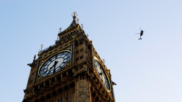 big ben and helicopter