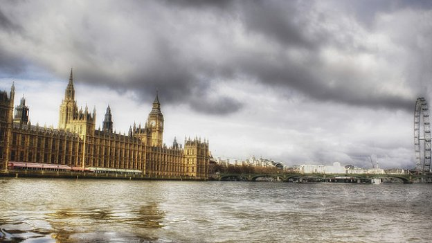 Photo of Houses of Parliament from the Thames River