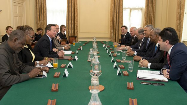 Picture of David Cameron in Cabinet room