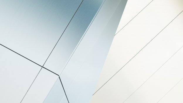 Abstract image of lines against a silver and white background