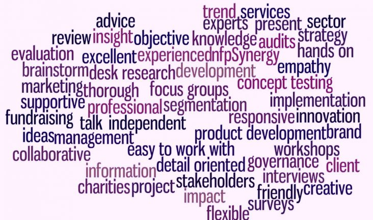 Word cloud of consultancy themes